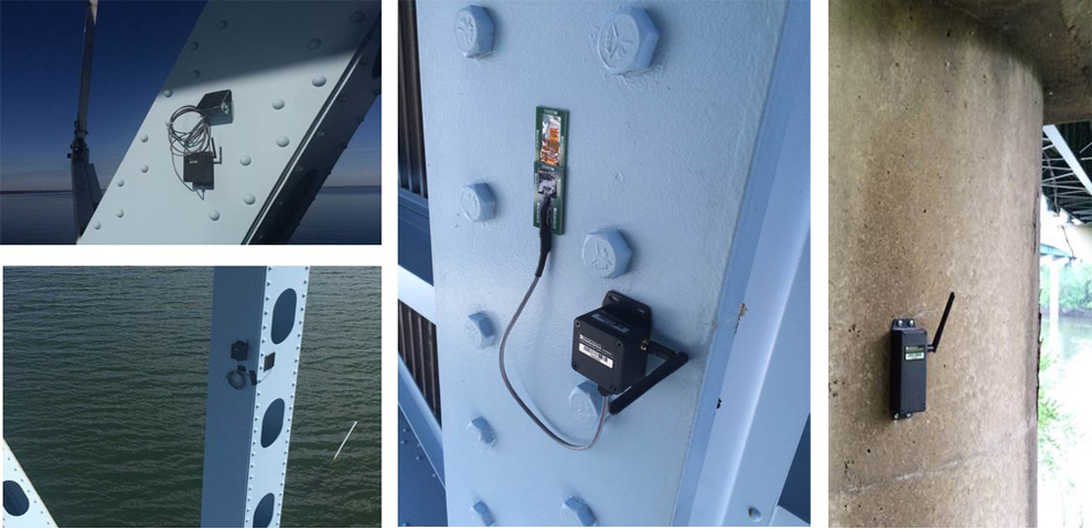 Resensys displacement and tilt monitorig system used for monitoring structural renovation.