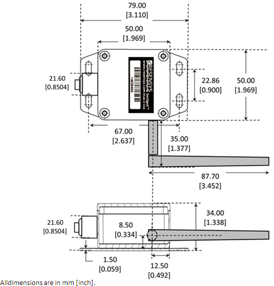 wireless displacement  crack meter